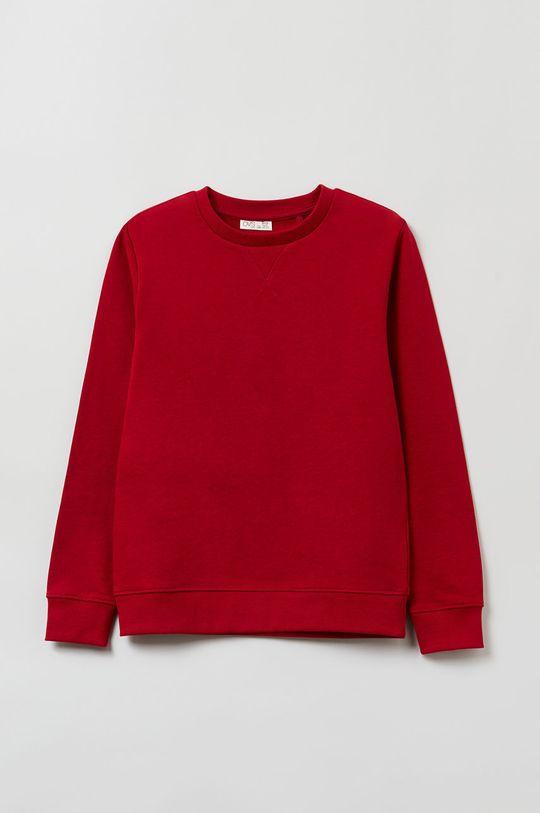 czerwony OVS - Bluza bawełniana dziecięca Chłopięcy