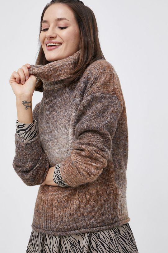 brązowy Only - Sweter z domieszką wełny Damski
