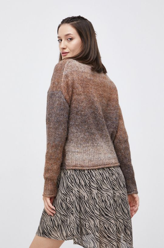 brązowy Only - Sweter z domieszką wełny