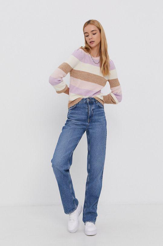 Only - Sweter pastelowy różowy