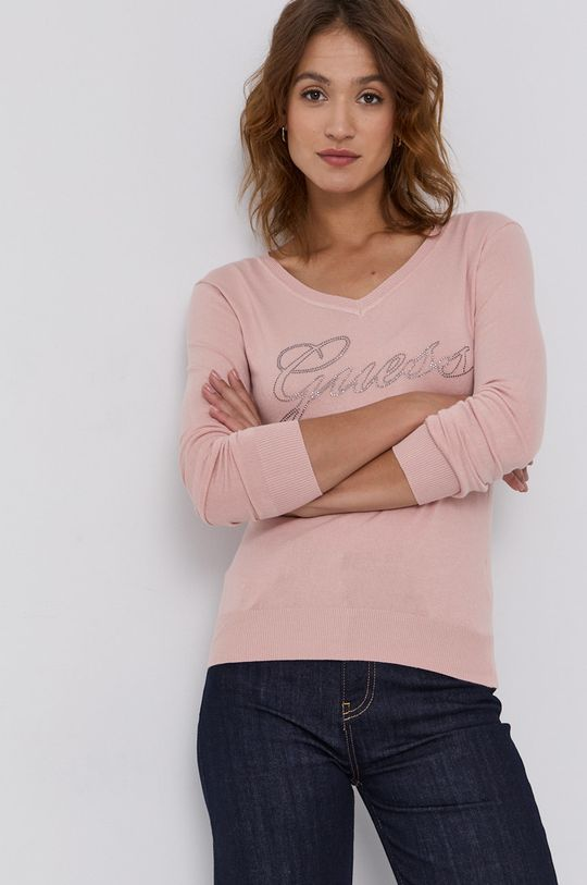 różowy Guess - Sweter Damski