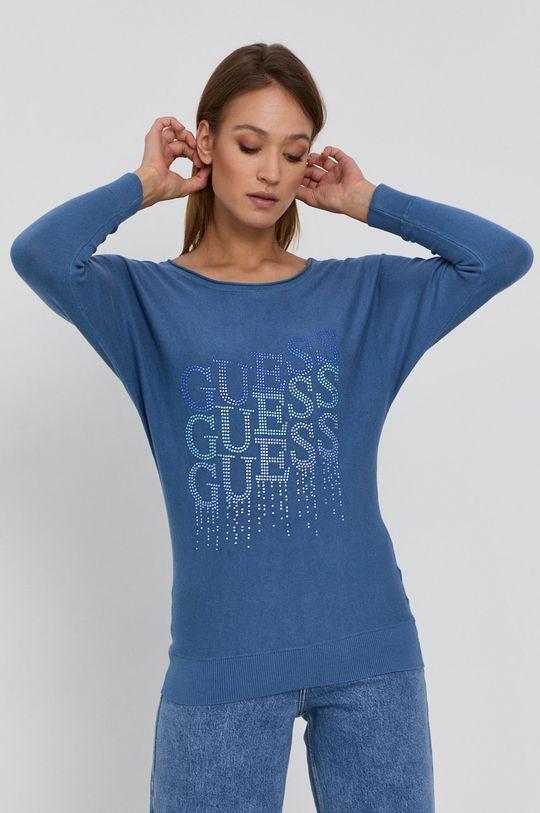 niebieski Guess - Sweter Damski
