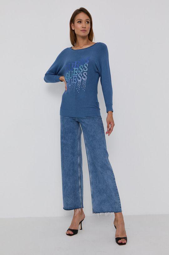 Guess - Sweter niebieski