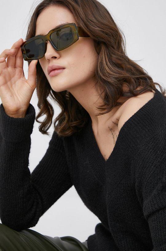 czarny Vero Moda - Sweter z domieszką wełny
