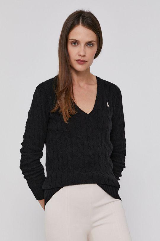 černá Polo Ralph Lauren - Vlněný svetr Dámský