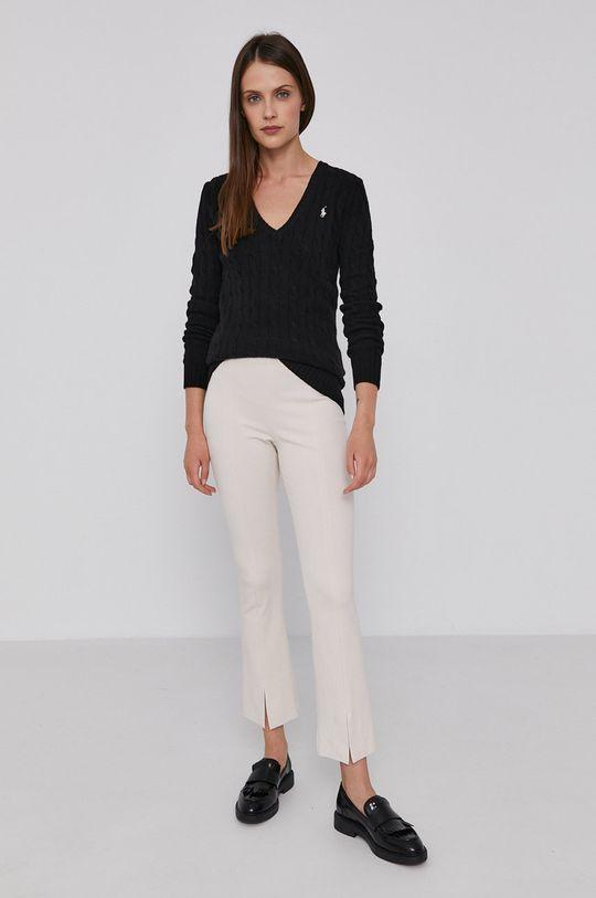Polo Ralph Lauren - Vlněný svetr černá