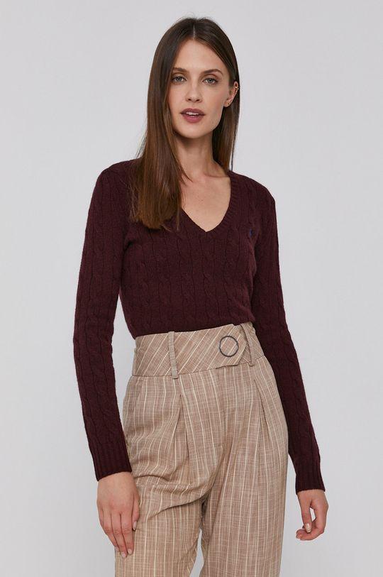 kaštanová Polo Ralph Lauren - Vlněný svetr Dámský