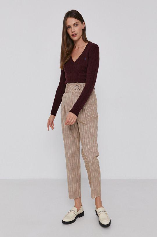 Polo Ralph Lauren - Vlněný svetr kaštanová