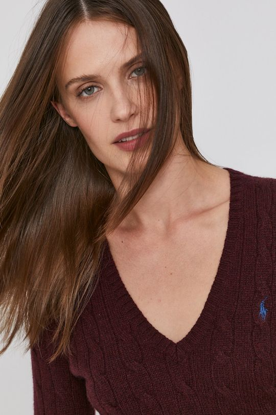 kaštanová Polo Ralph Lauren - Vlněný svetr