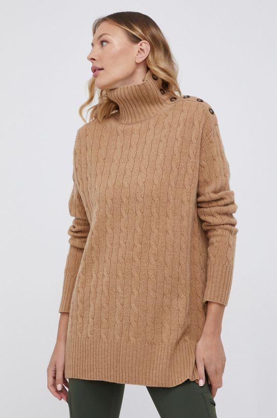 beżowy Polo Ralph Lauren - Sweter wełniany Damski