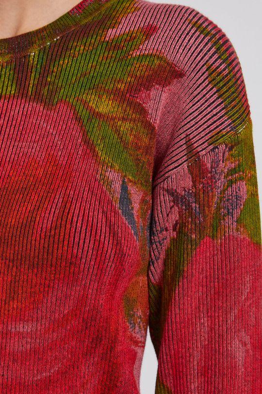 czerwony Desigual - Sweter