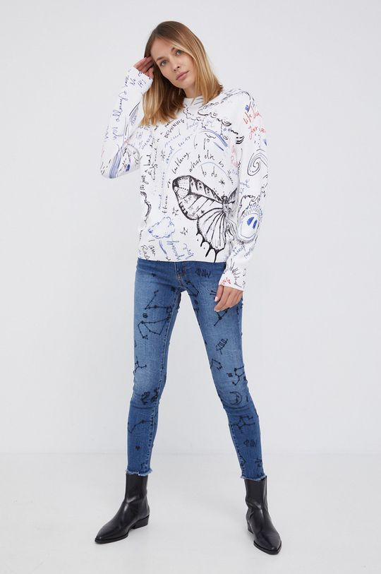 Desigual - Sweter biały