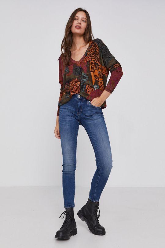 Desigual - Sweter multicolor