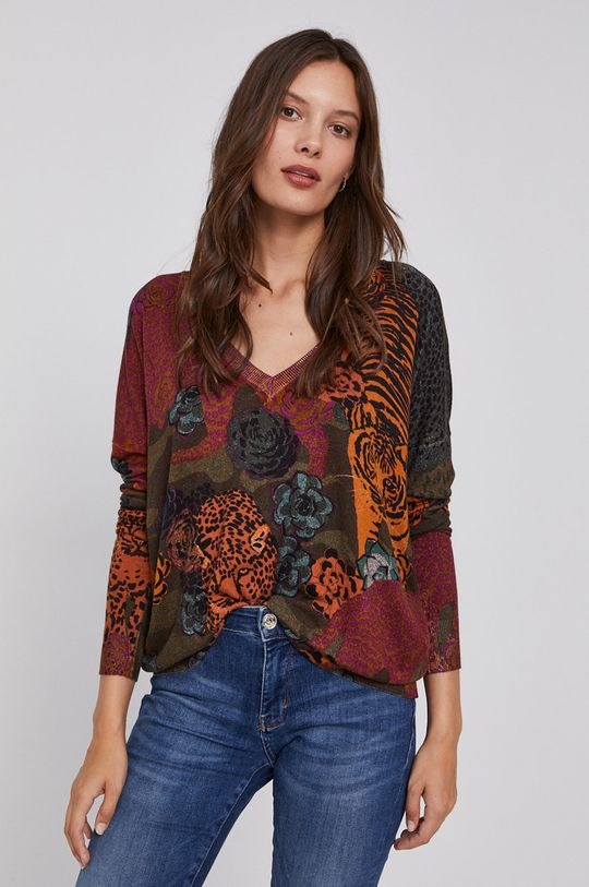 multicolor Desigual - Sweter