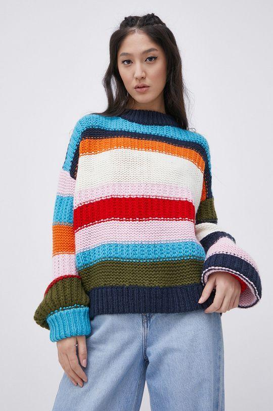 multicolor Tommy Jeans - Sweter z domieszką wełny Damski