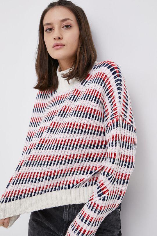 multicolor Tommy Jeans - Sweter z domieszką wełny