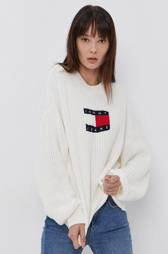 biały Tommy Jeans - Sweter Damski