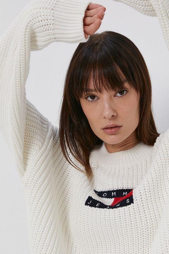 biały Tommy Jeans - Sweter