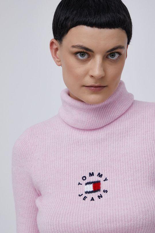 różowy Tommy Jeans - Sweter Damski