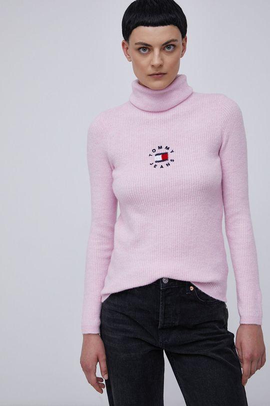 różowy Tommy Jeans - Sweter