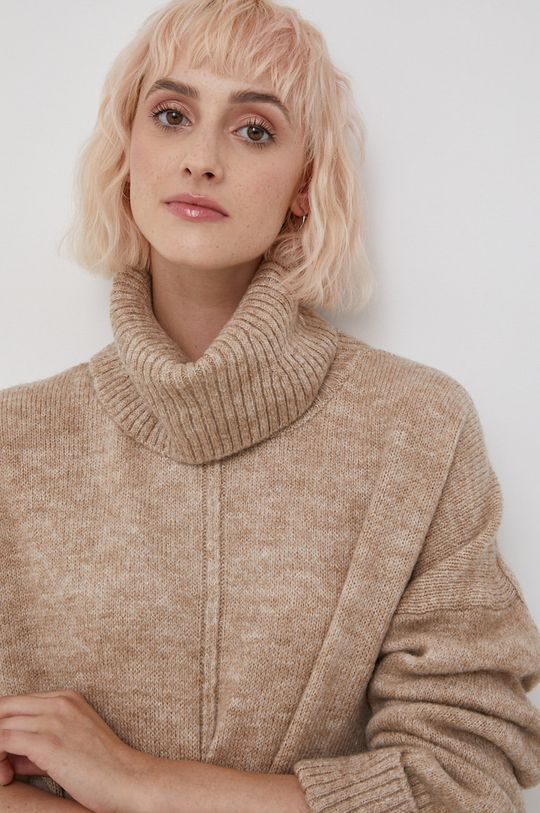 beżowy Only - Sweter
