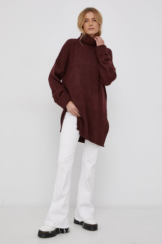 Only - Sweter kasztanowy