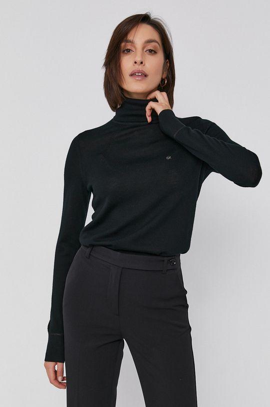 czarny Calvin Klein - Sweter wełniany Damski
