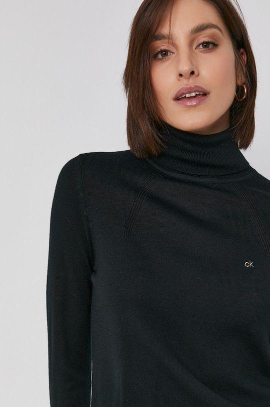 czarny Calvin Klein - Sweter wełniany