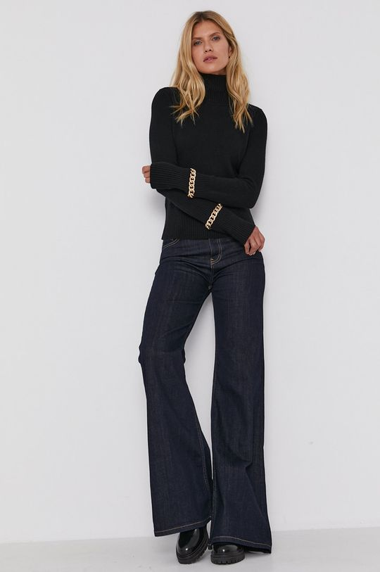 Patrizia Pepe - Sweter z domieszką wełny czarny