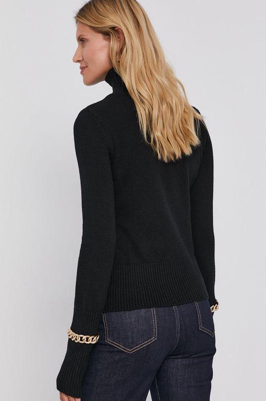 Patrizia Pepe - Sweter z domieszką wełny Materiał zasadniczy: 30 % Bawełna, 45 % Poliamid, 25 % Wełna, Wstawki: 50 % Aluminium, 50 % Miedź