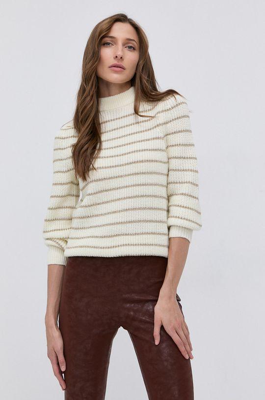 kremowy Guess - Sweter z domieszką wełny Damski