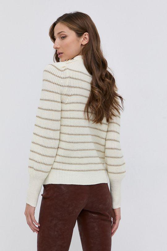 Guess - Sweter z domieszką wełny 62 % Akryl, 15 % Poliester, 14 % Wełna, 9 % Włókno metaliczne