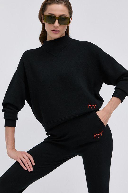 czarny Hugo - Sweter wełniany Damski