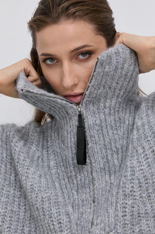 Hugo - Sweter z domieszką wełny Damski