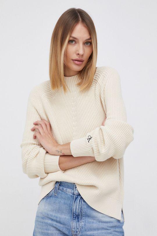 kremowy Calvin Klein Jeans - Sweter Damski