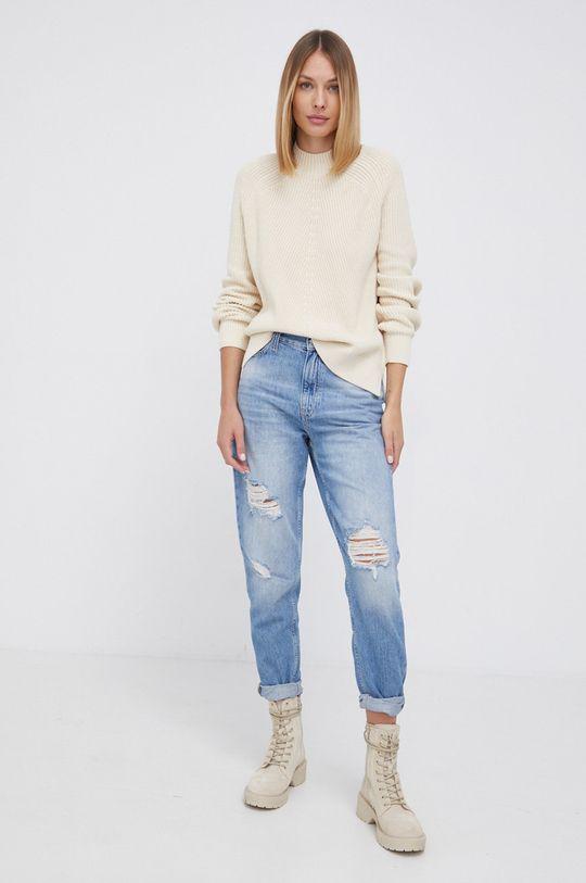 Calvin Klein Jeans - Sweter kremowy