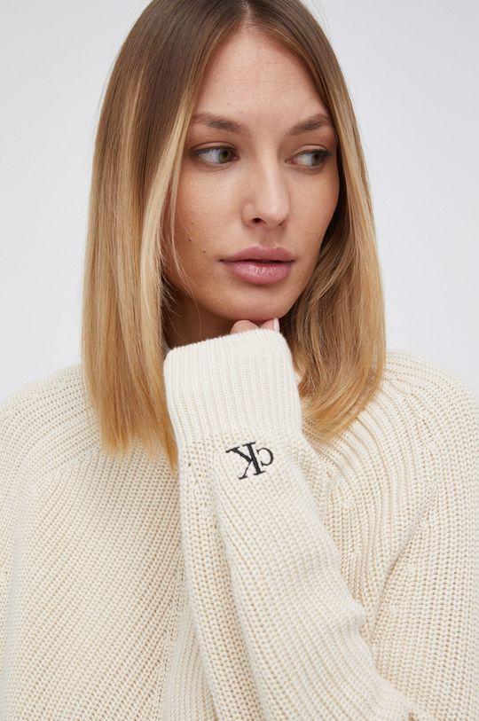 kremowy Calvin Klein Jeans - Sweter