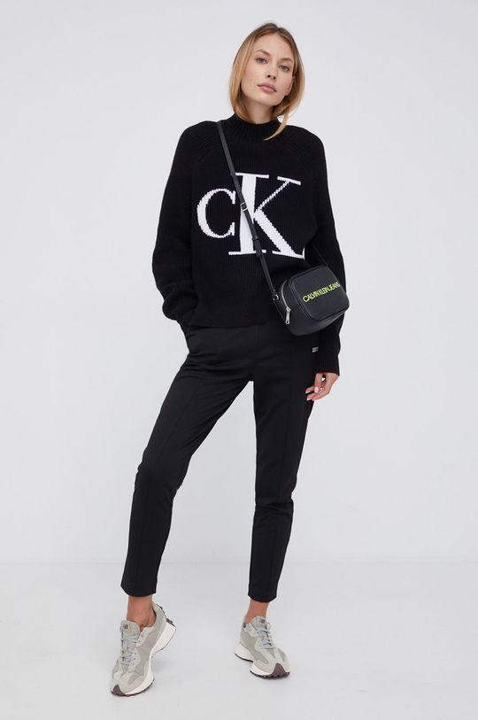 czarny Calvin Klein Jeans - Sweter z domieszką wełny Damski