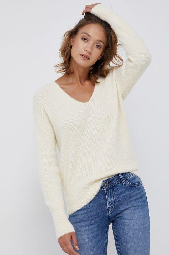 kremowy Calvin Klein Jeans - Sweter z domieszką wełny Damski