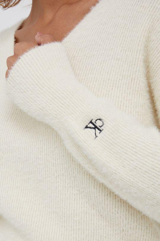 Calvin Klein Jeans - Sweter z domieszką wełny Damski