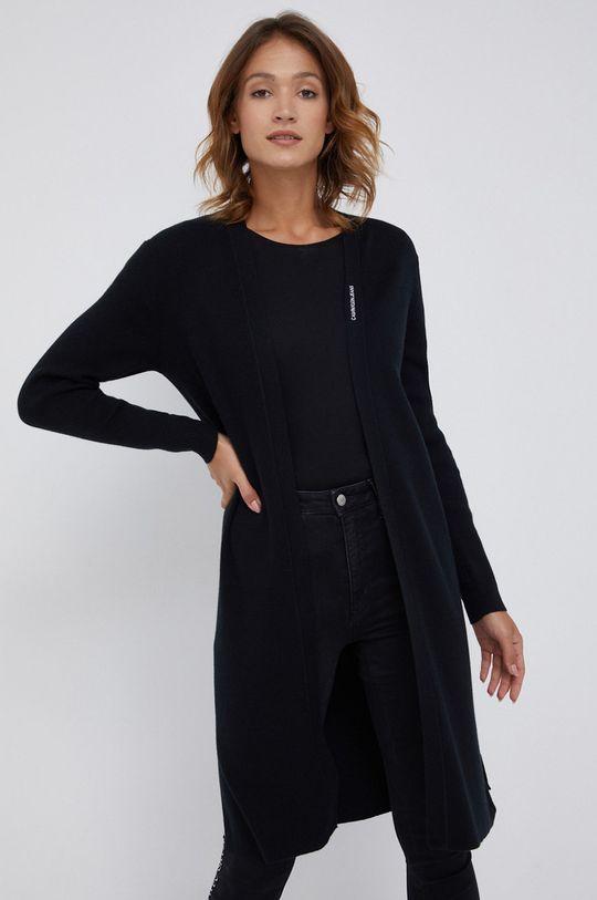czarny Calvin Klein Jeans - Kardigan z domieszką wełny Damski