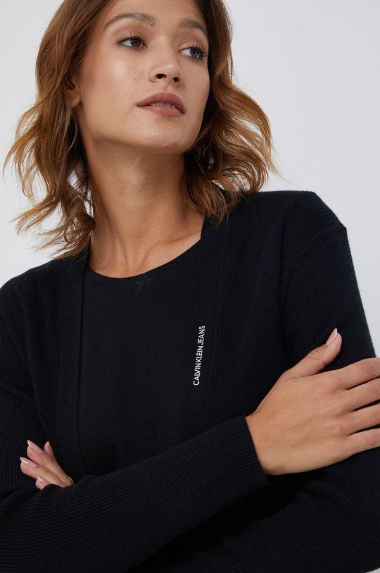 czarny Calvin Klein Jeans - Kardigan z domieszką wełny
