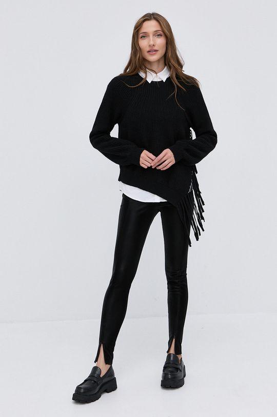 Pinko - Sweter z domieszką wełny czarny