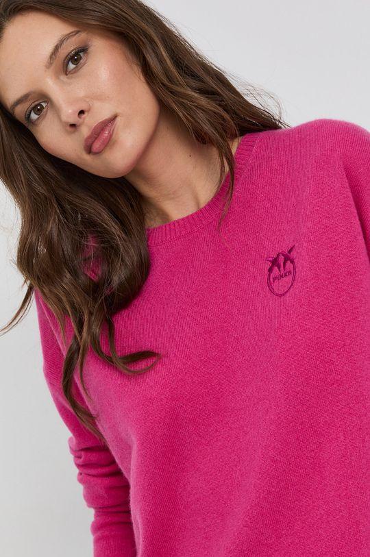 fuksja Pinko - Sweter wełniany