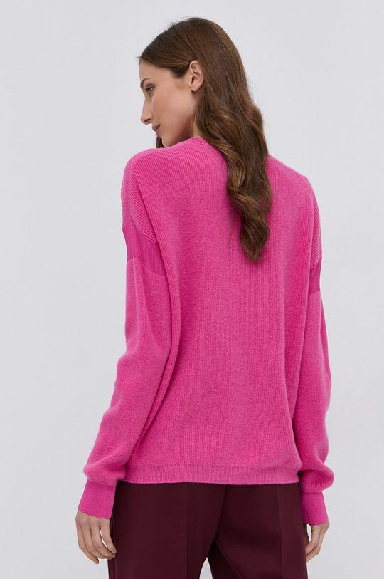 Pinko - Sweter wełniany Materiał 1: 10 % Kaszmir, 90 % Wełna, Materiał 2: 10 % Poliamid, 90 % Wiskoza, Wykończenie: 100 % Poliester