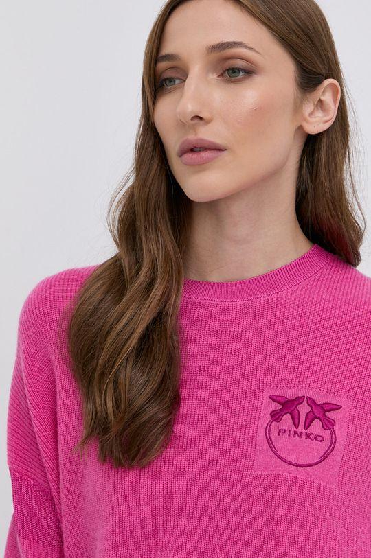 ostry różowy Pinko - Sweter wełniany