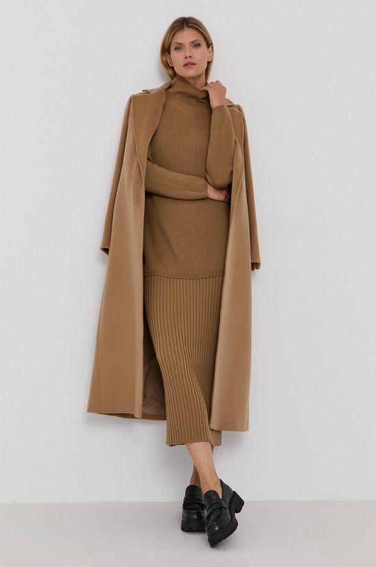 Max Mara Leisure - Sweter wełniany brązowy