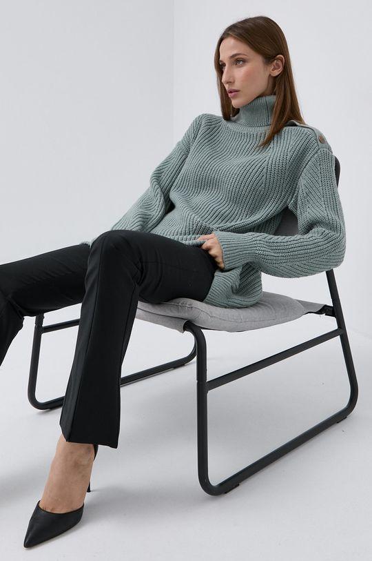 zielony Marciano Guess - Sweter z domieszką wełny