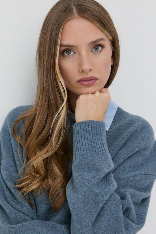 fioletowy Samsoe Samsoe - Sweter wełniany