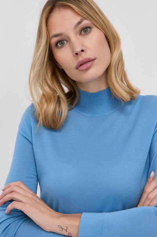 albastru Boss - Pulover de lana De femei